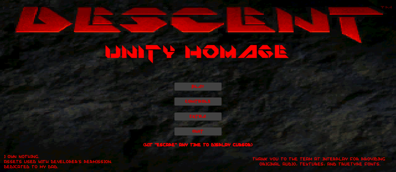 Descent Homage (Unity)