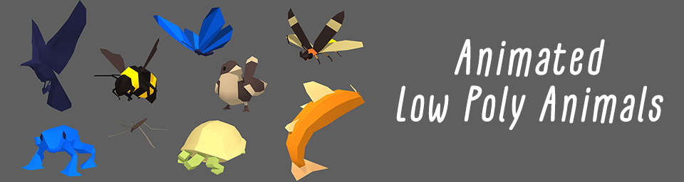 Animated Low Poly Animals
