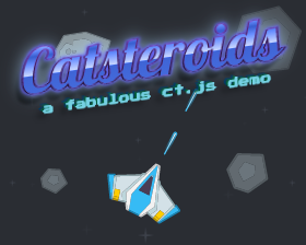 Catsteroids: an arcade space shooter with asteroids, starships and bonuses.