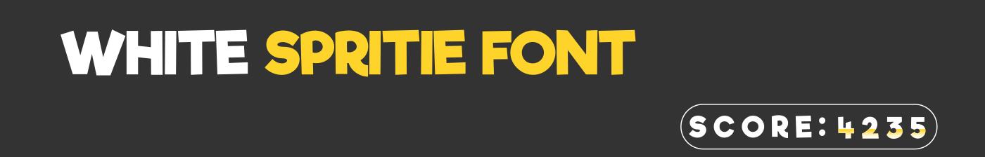 White Sprite Font