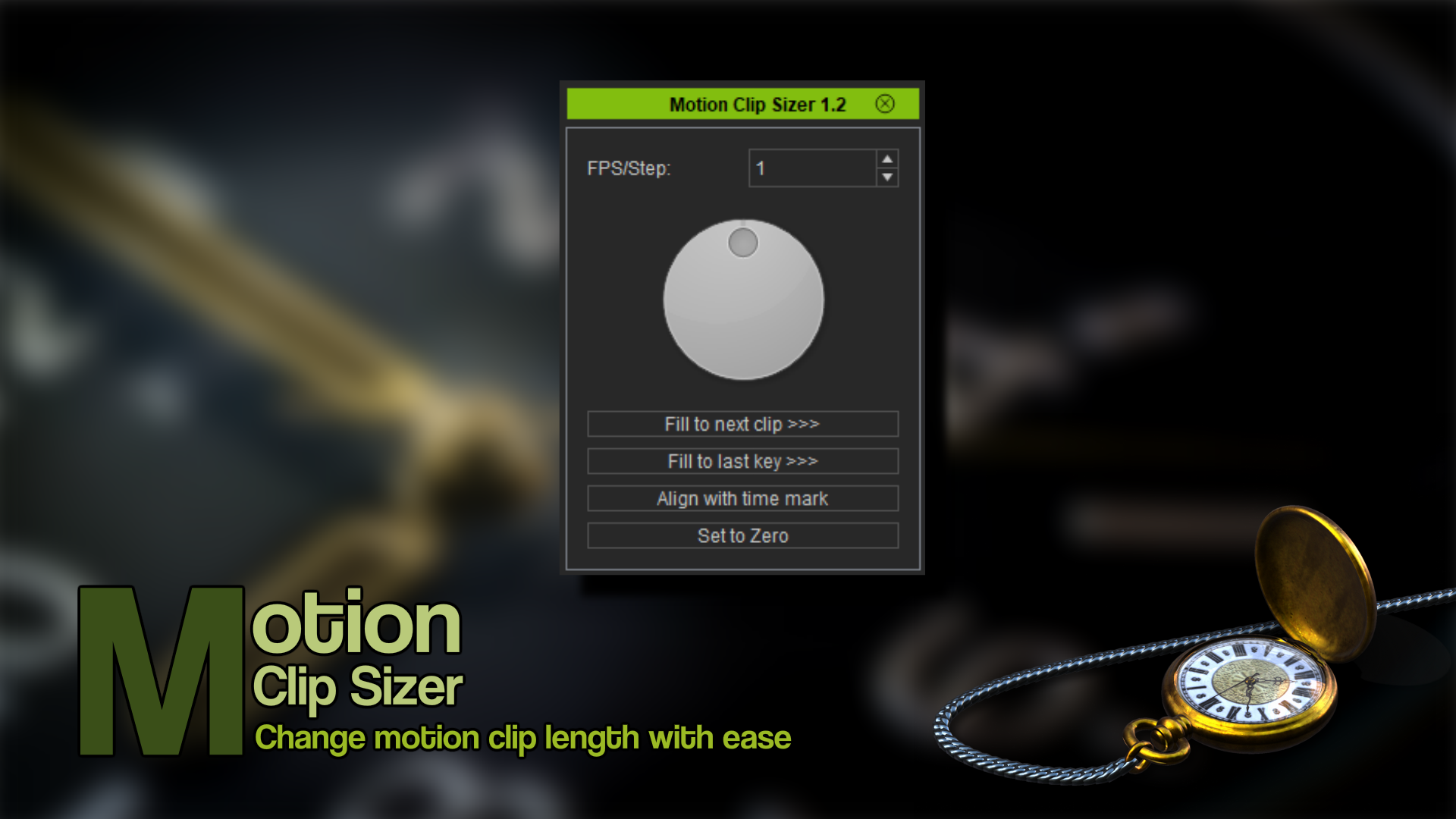 Motion Clip Sizer (iClone7 Plugin)