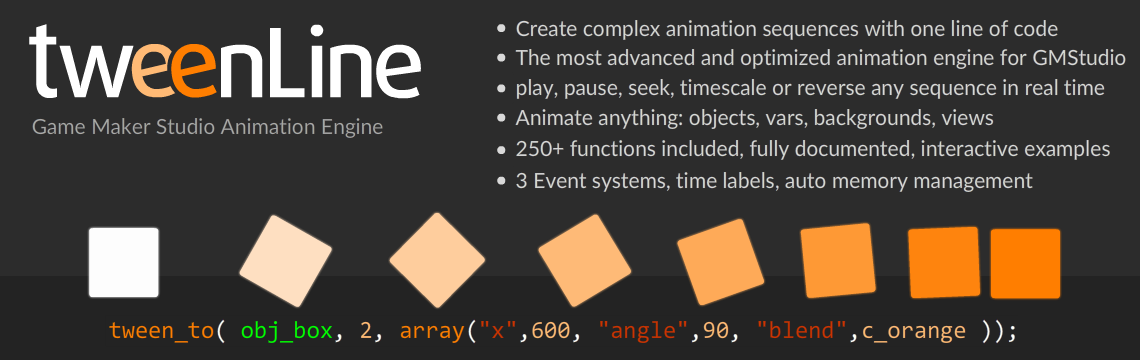 Tweenline 2 Animation Engine for GameMaker Studio