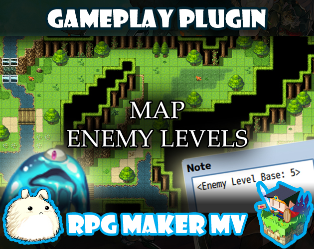 Map Enemy Levels plugin for RPG Maker MV by Yanfly Engine Plugins