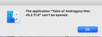 Cannot Install Game on Mac - Tales of Androgyny community - itch io