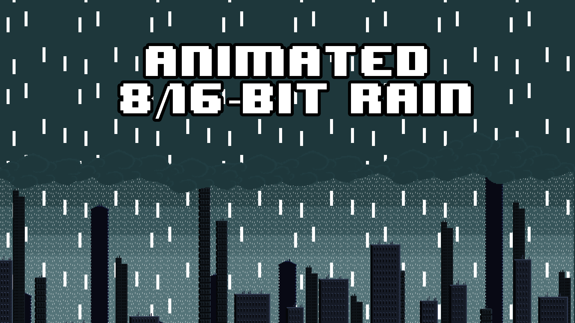 Animated 8/16-Bit Rain