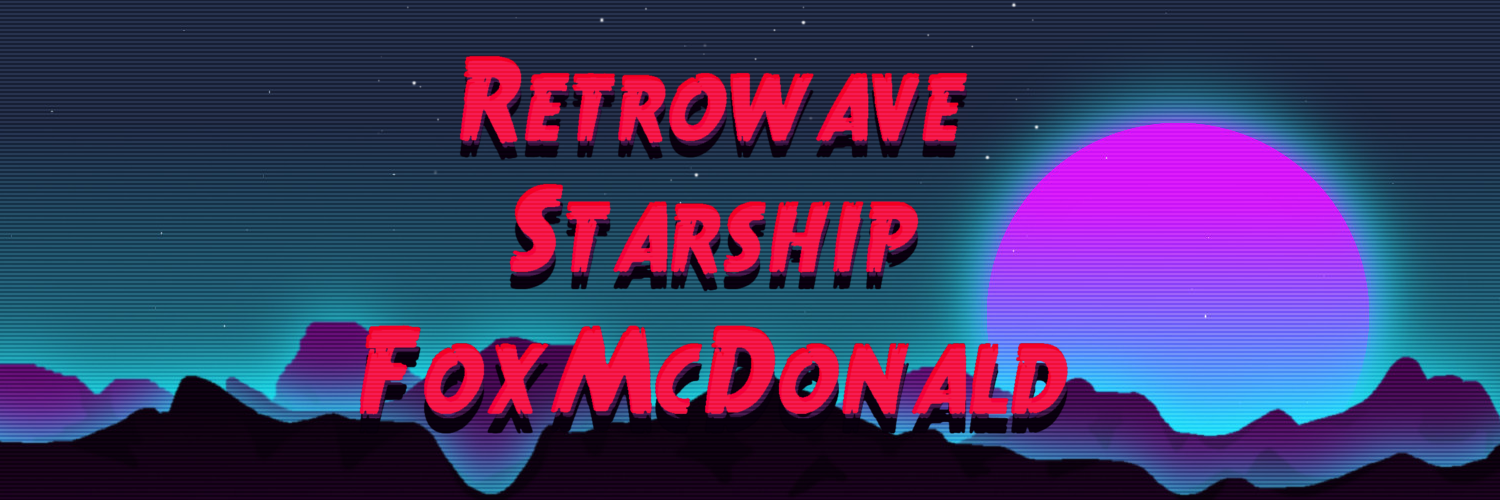 Retrowave Starship FoxMcDonald