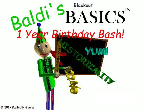 Baldi's Blackout Birthday Bash!