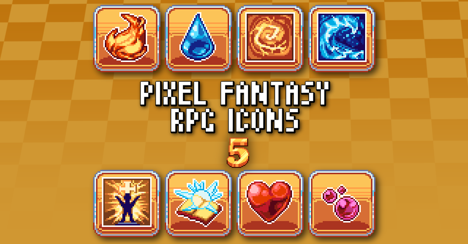 PIXEL FANTASY RPG ICONS - PACK 5