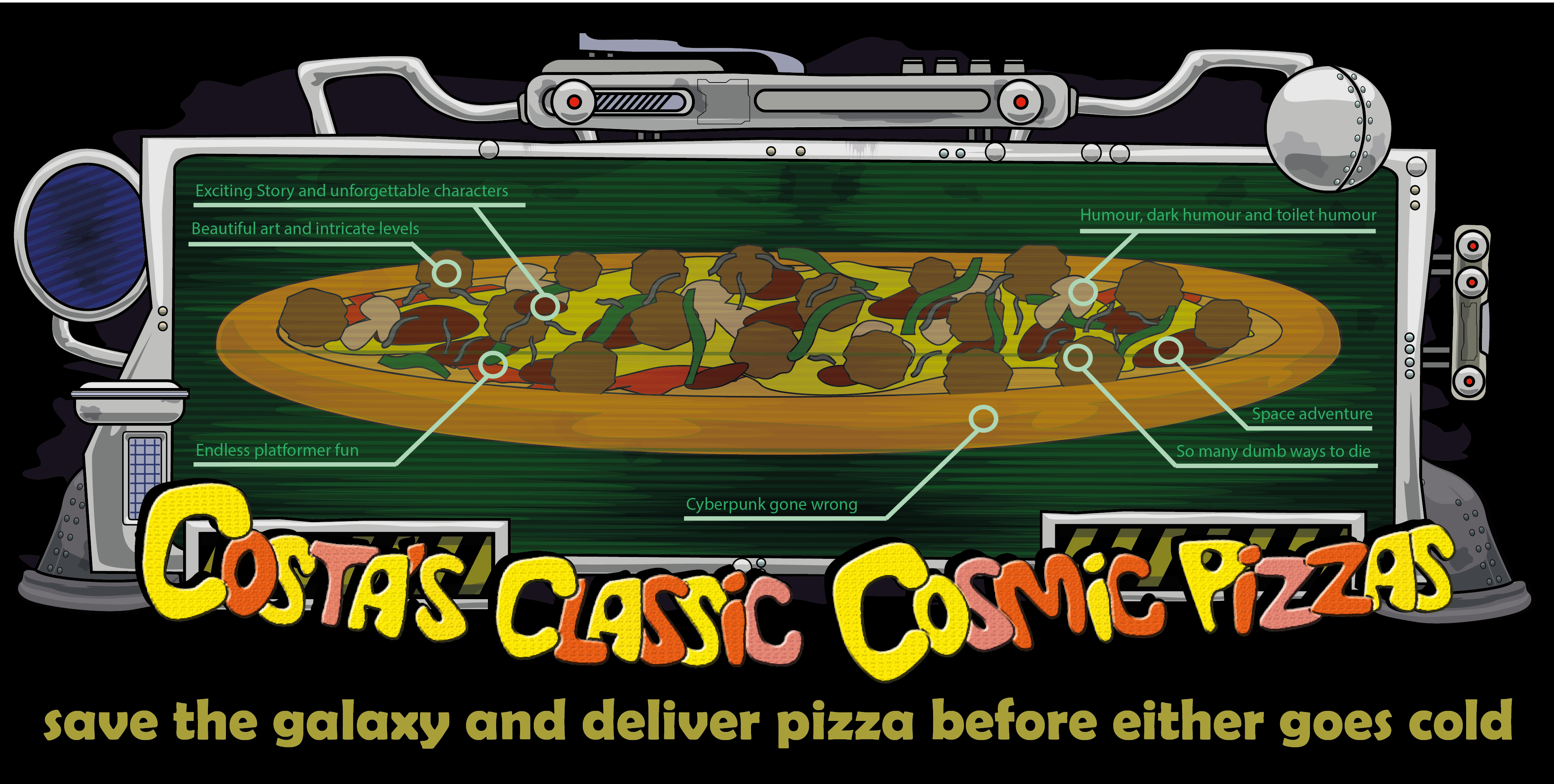 Costa's Classic Cosmic Pizzas