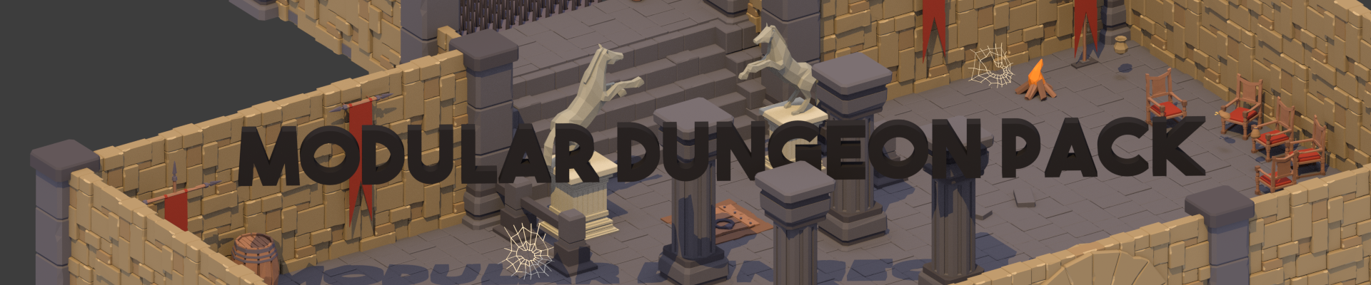 LowPoly Modular Dungeon Pack