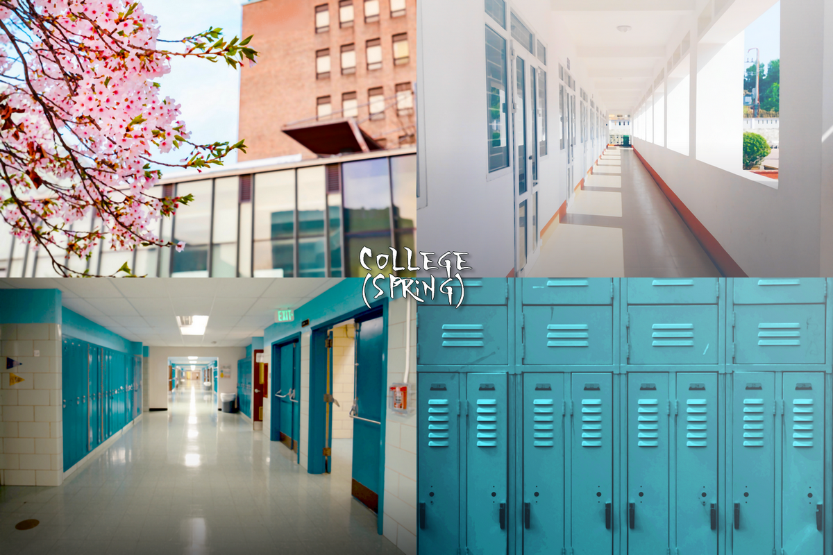 School & College Pack: 20 Visual Novel Backgrounds by Rachel Chen