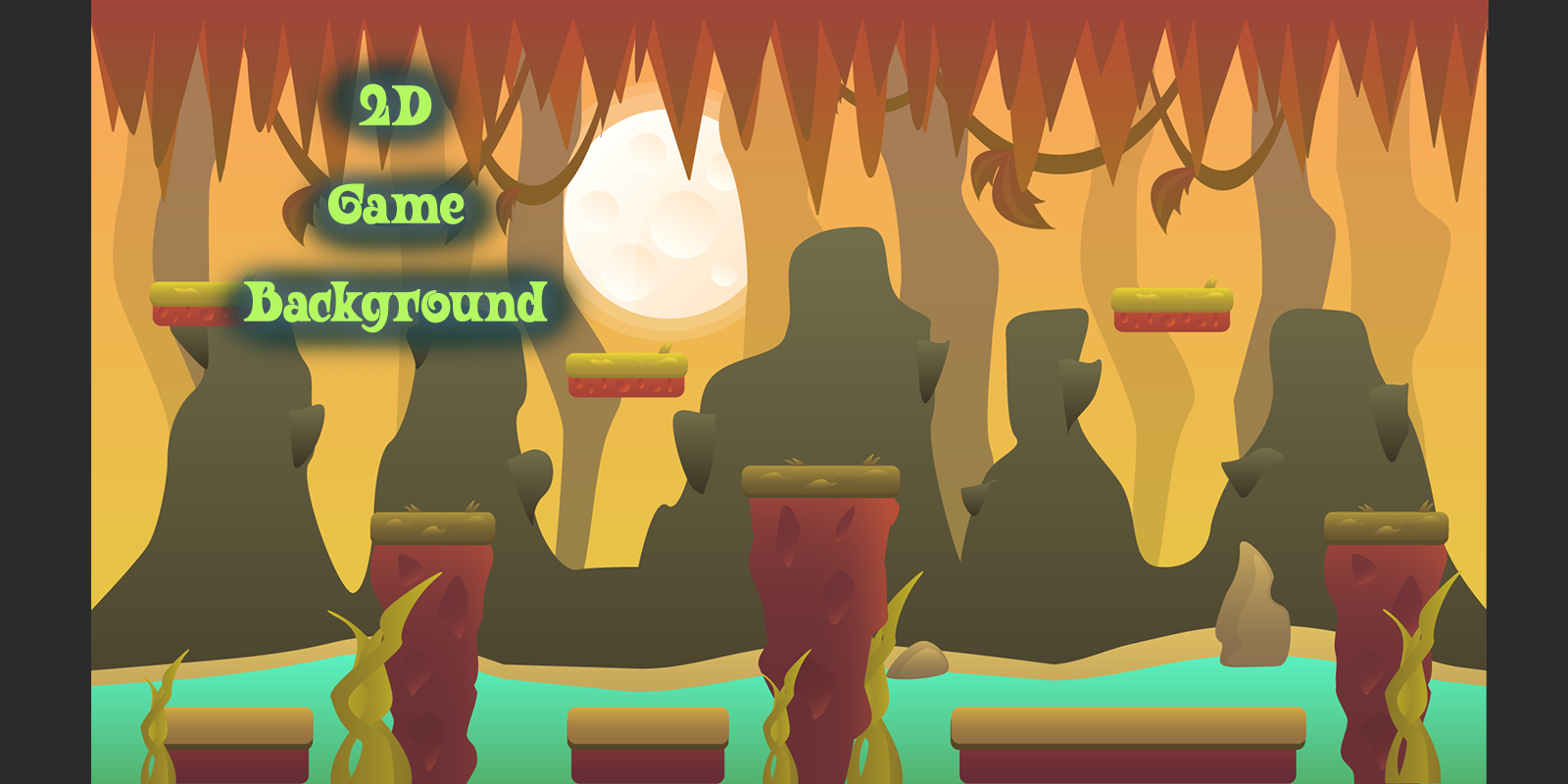 FREE 2D VECTOR GAME BACKGROUND 2 by MarwaMJ