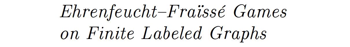 Ehrenfeucht–Fraïssé Game for Finite Graphs