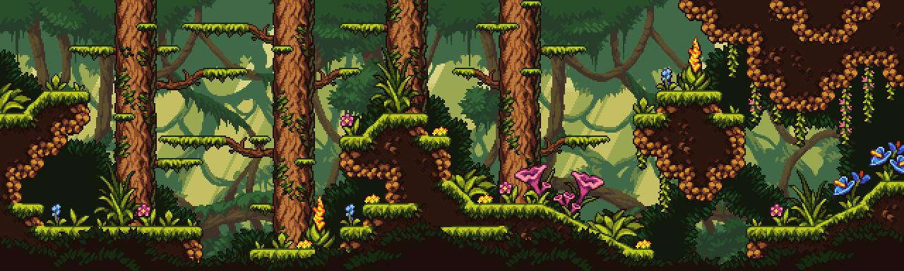 Fantasy Jungle - Pixel Art Tileset