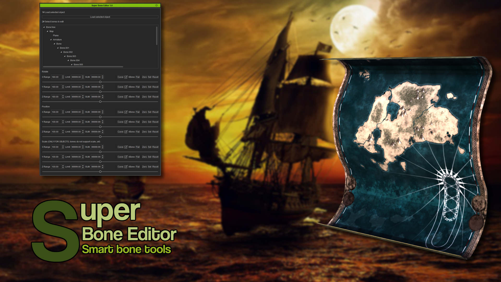 Super Bone Editor (iClone7 Plugin)