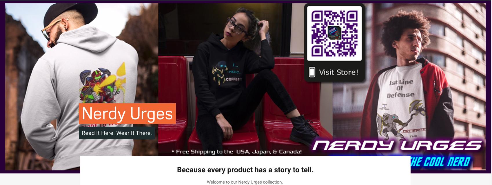 Nerdy Urges Online Store