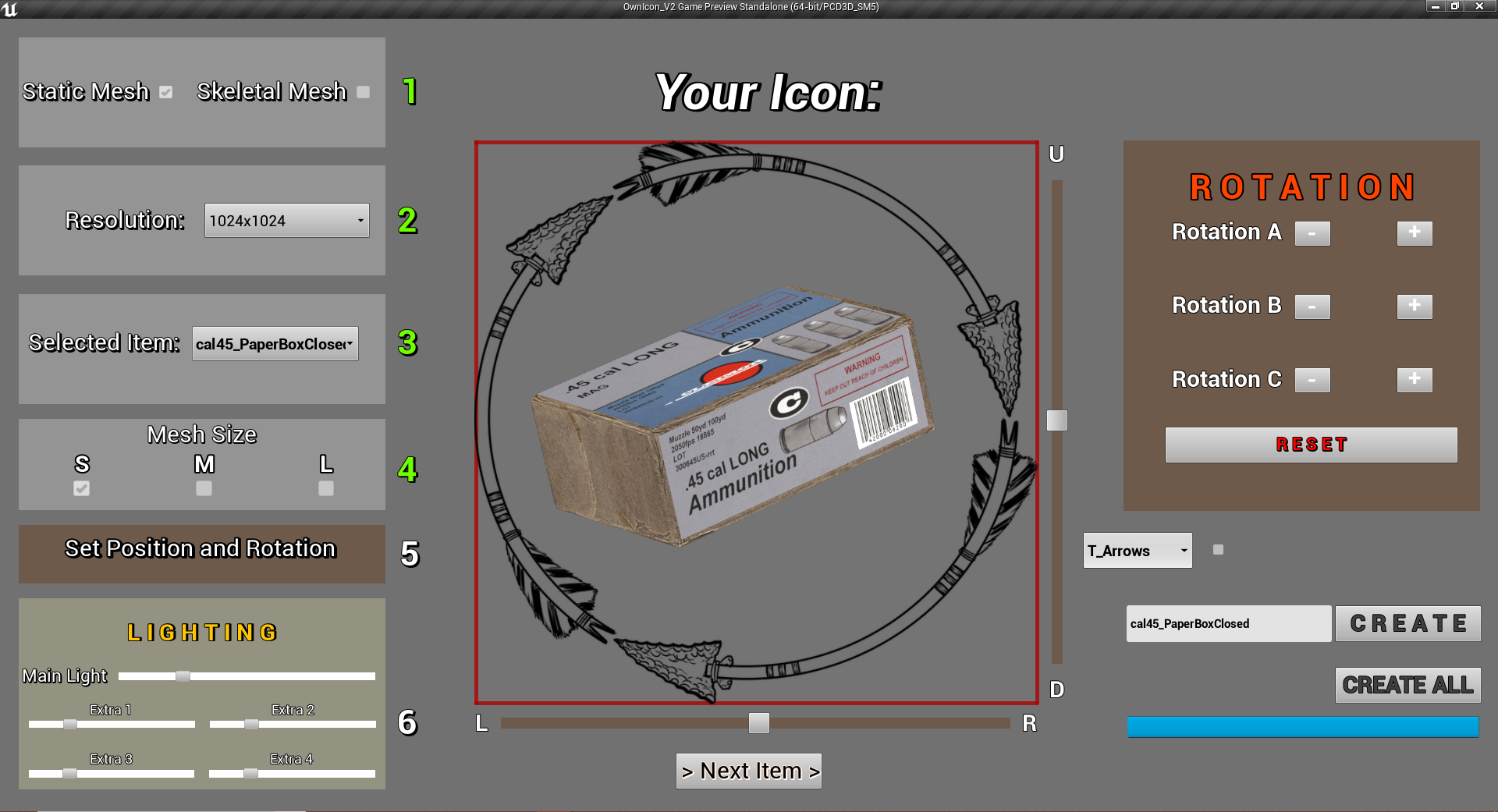 UE4 Icon Creator - OwnIcon - 100% Blueprint - WIP Update2