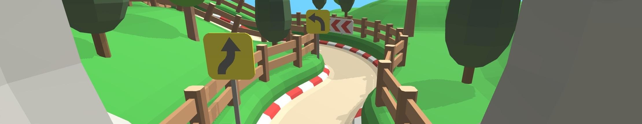 Modular Racekart Track - Hilly Terrain Theme