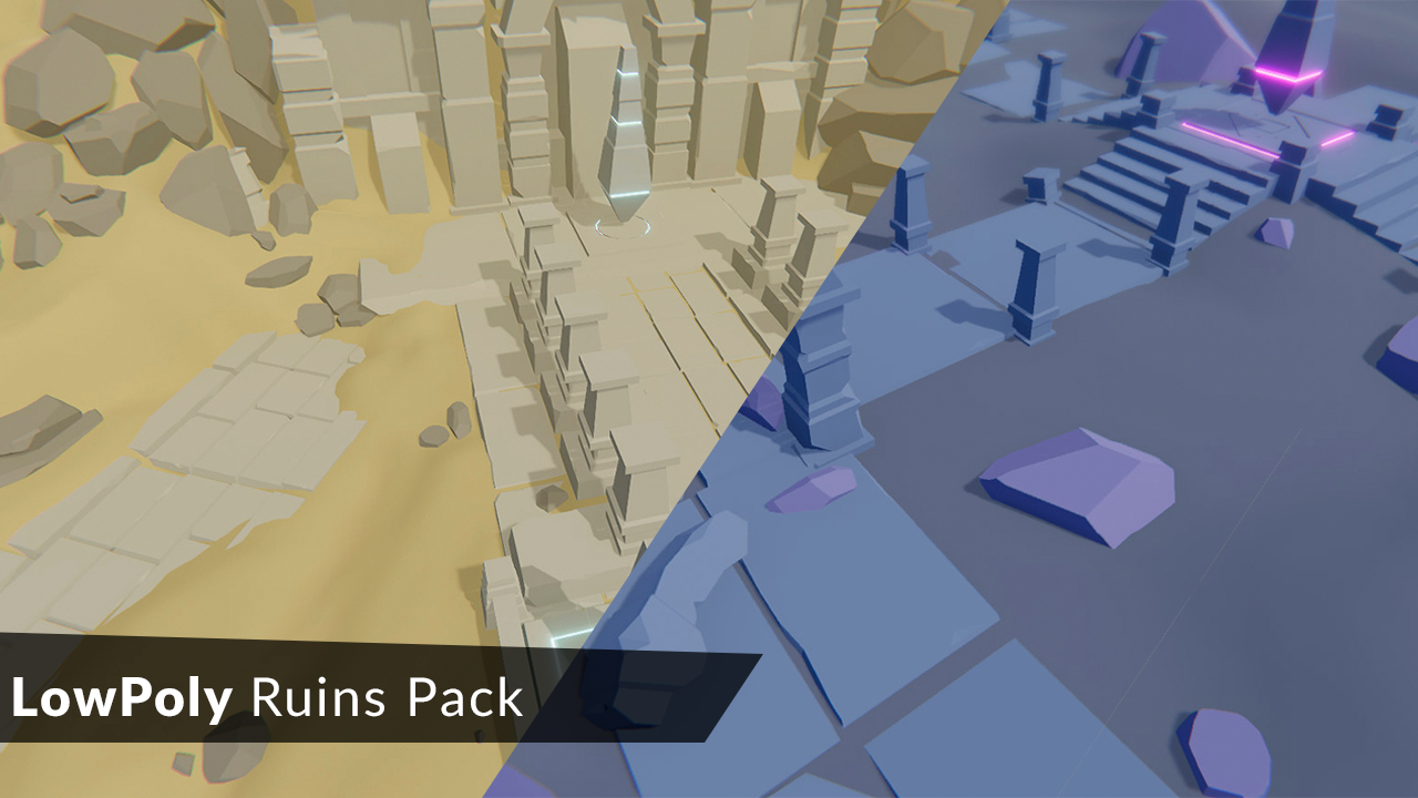 LowPoly Ruins Pack