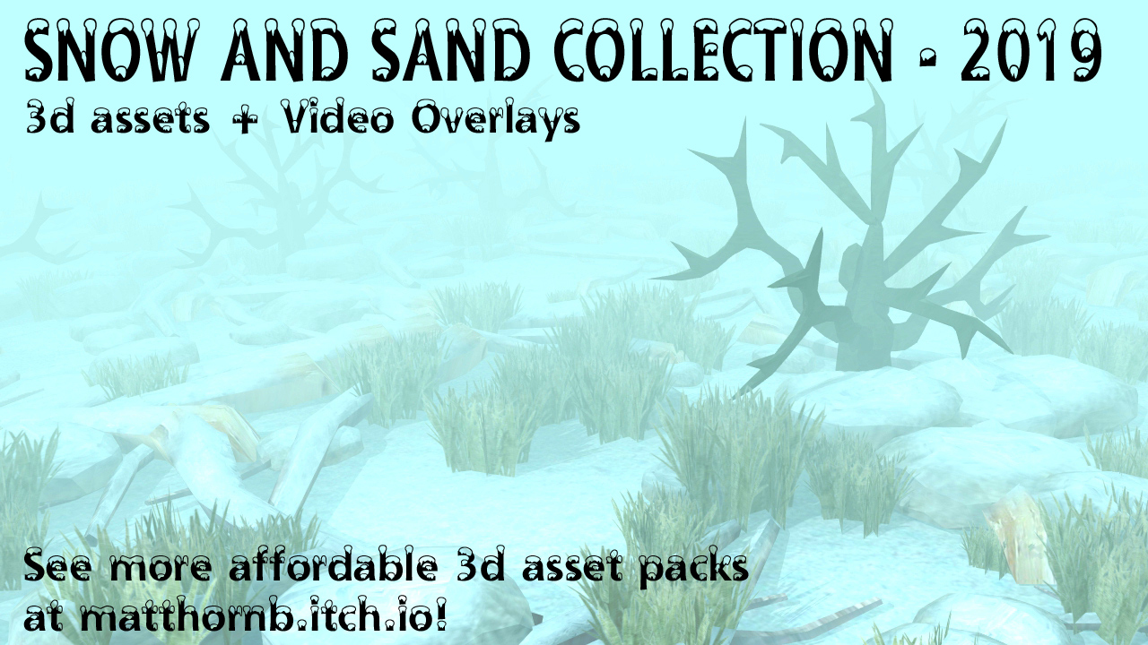 Snow and Sand 3d asset pack - main image