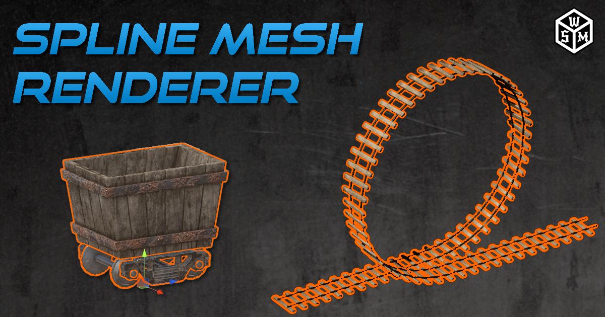 Spline Mesh Renderer for Unity 3D