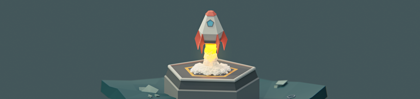 Animate a Low Poly Rocket Animation