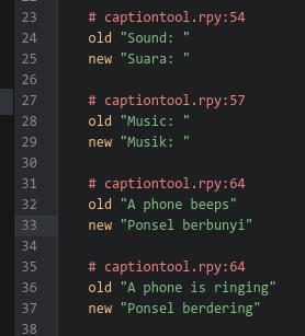 Comments - Caption Tool for Ren'Py by npckc