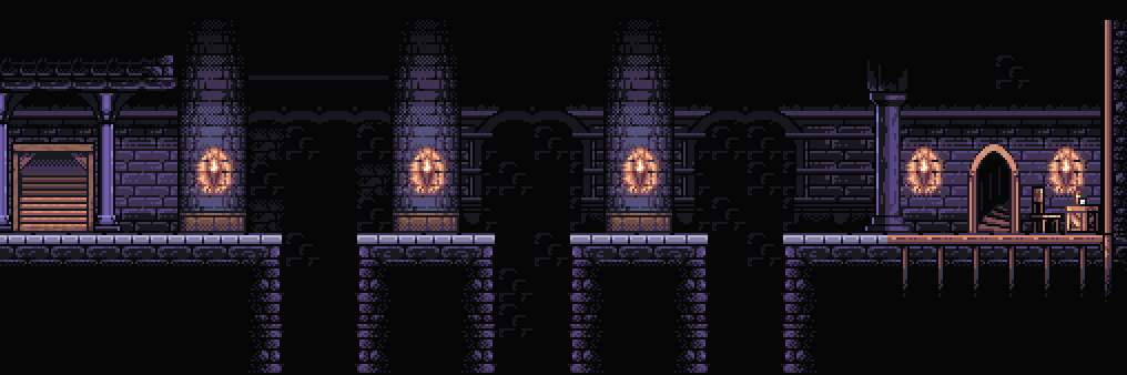 Dark Dungeon - Side-Scroller Tileset