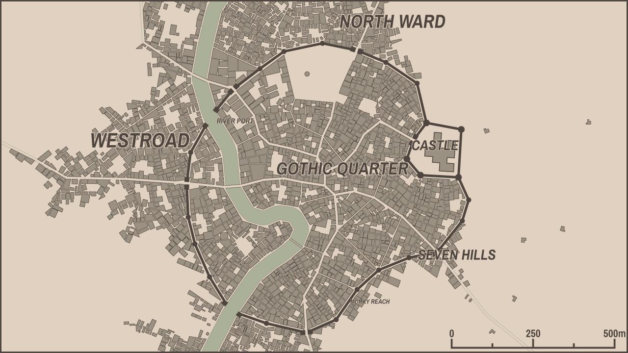 0 7 1: Editable district names - Medieval Fantasy City