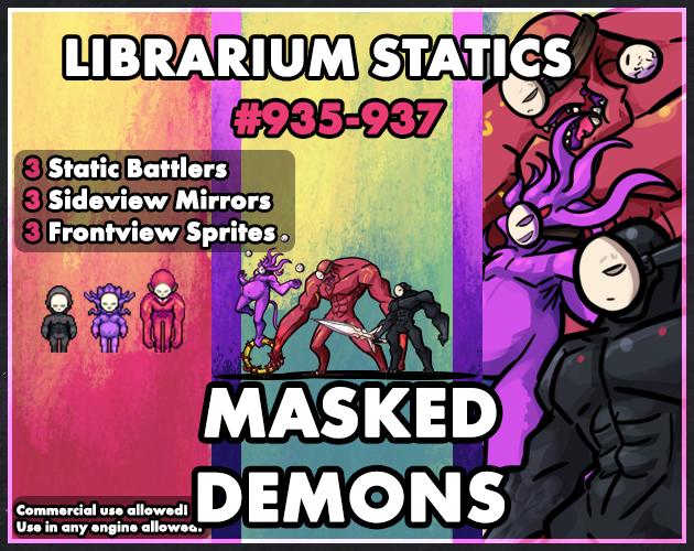 Librarium Statics - Masked Demons by Aekashics