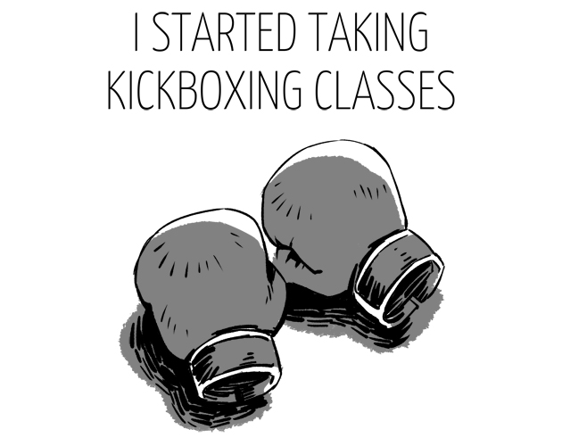 I Started Kickboxing Classes