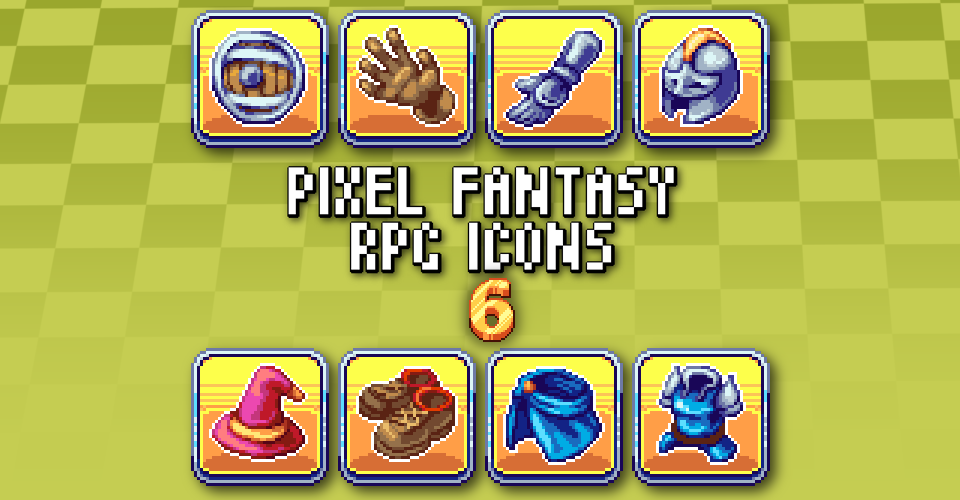 PIXEL FANTASY RPG ICONS - PACK 6