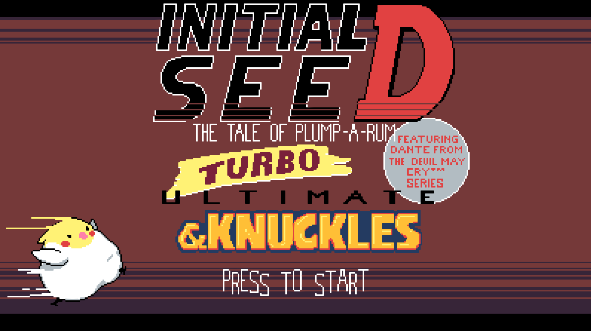 Initial seeD: The tale of Plump-a-rum: Turbo ULTIMATE & Knuckles (Featuring Dante from the Devil May Cry series)