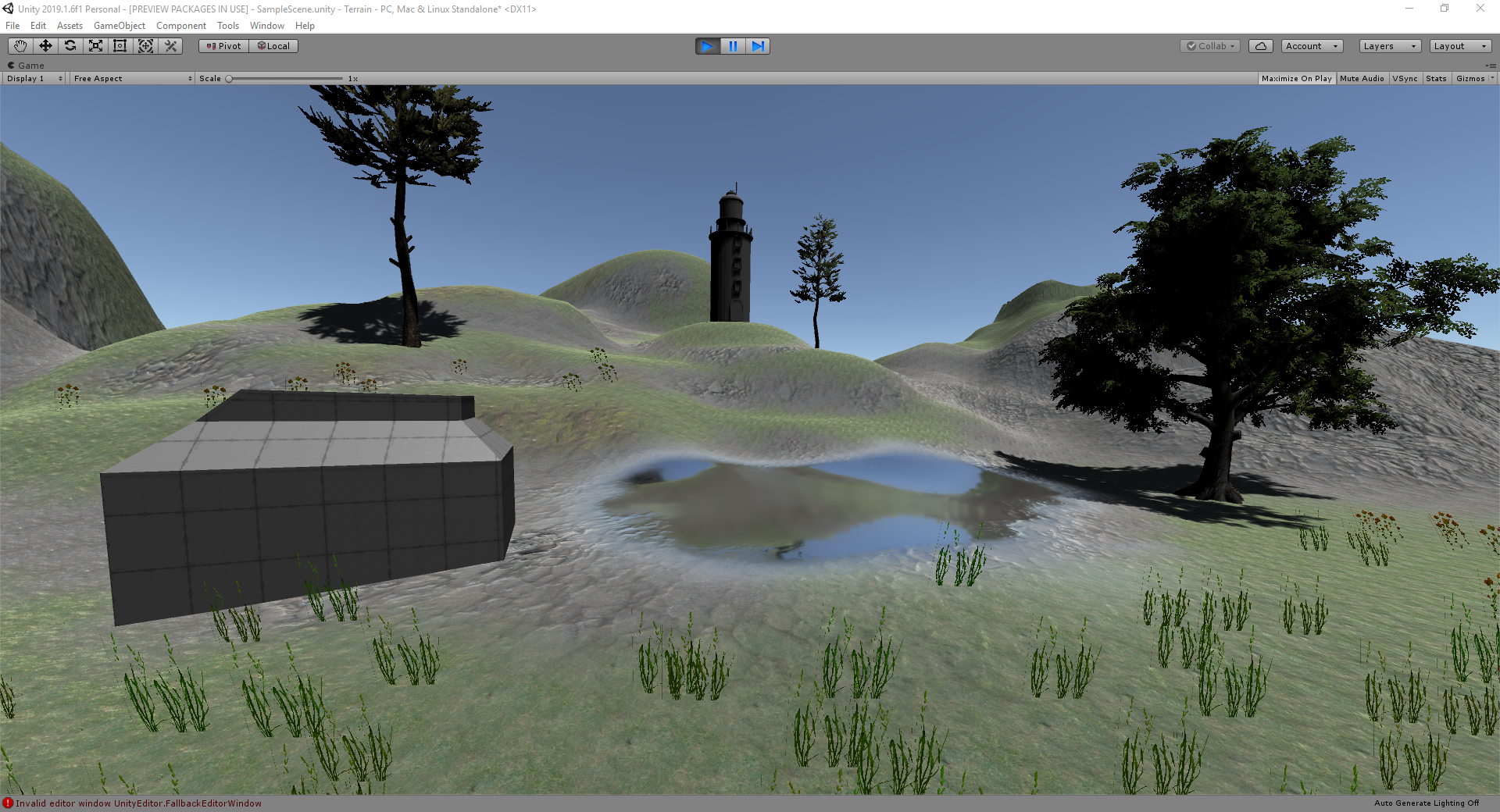 Unity Terrain and Pro Builder - UTAS KIT207 Portfolio by Sam