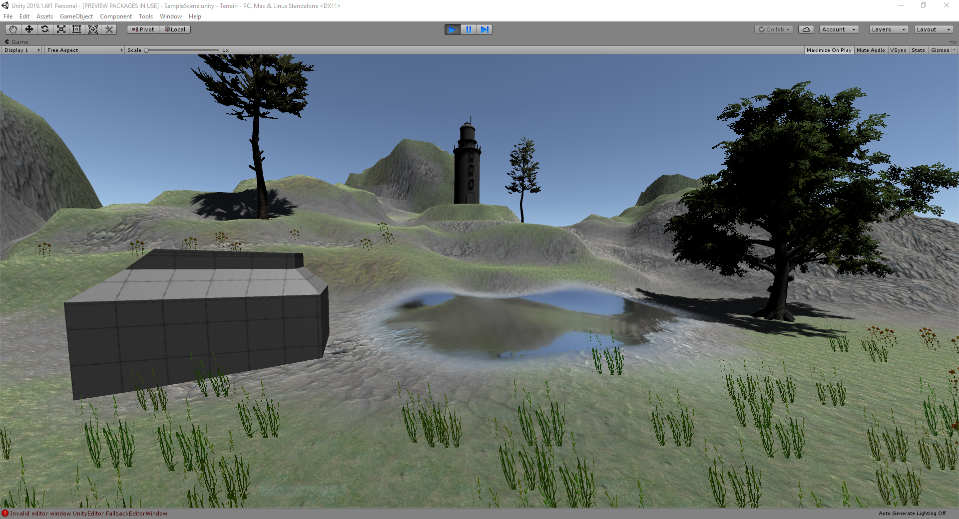Unity Terrain and Pro Builder - UTAS KIT207 Portfolio by Sam