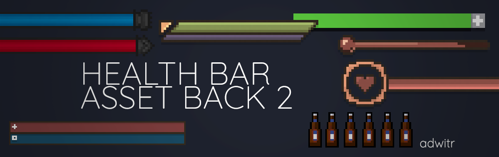 Pixel Health Bar Asset Pack 2