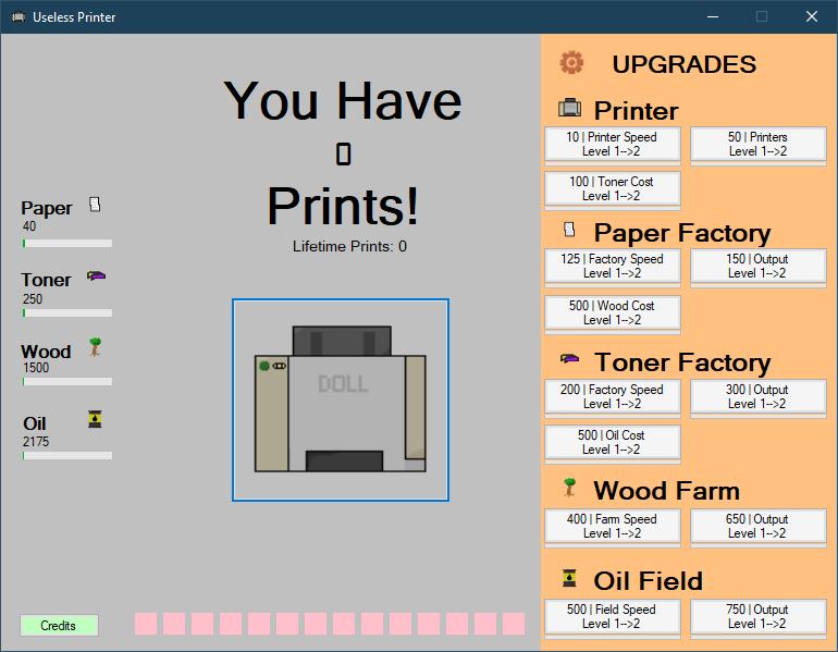 Printer Game Screenshot