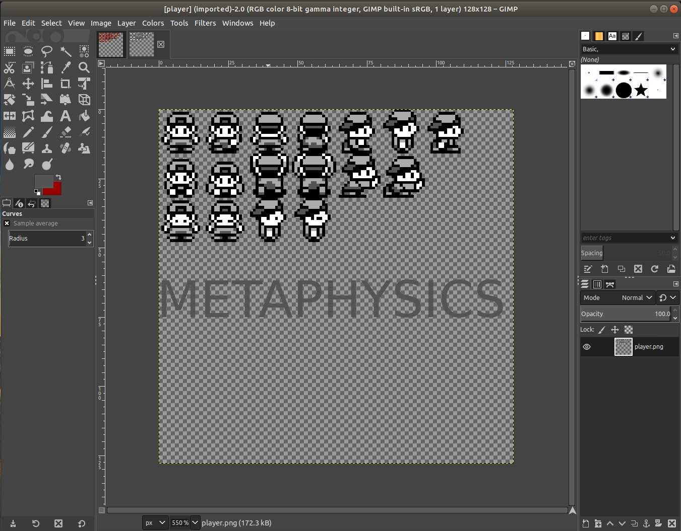 Designing SpriteSheet - Project UZR by MetaphysicsStudios