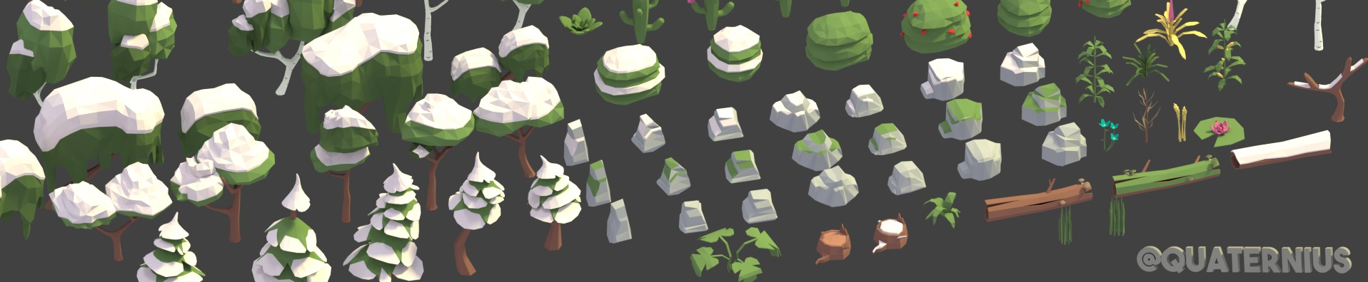 150+ LowPoly Nature Models
