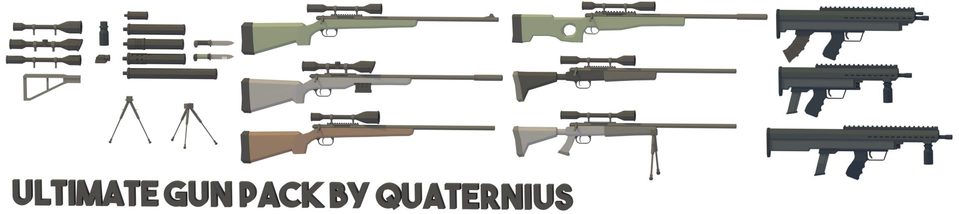 50+ LowPoly Guns