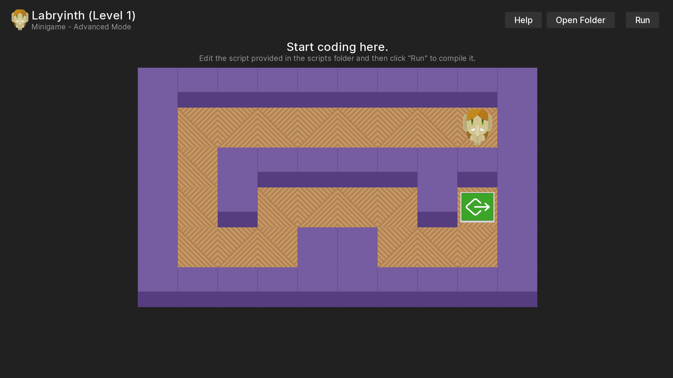 Example minigame screen