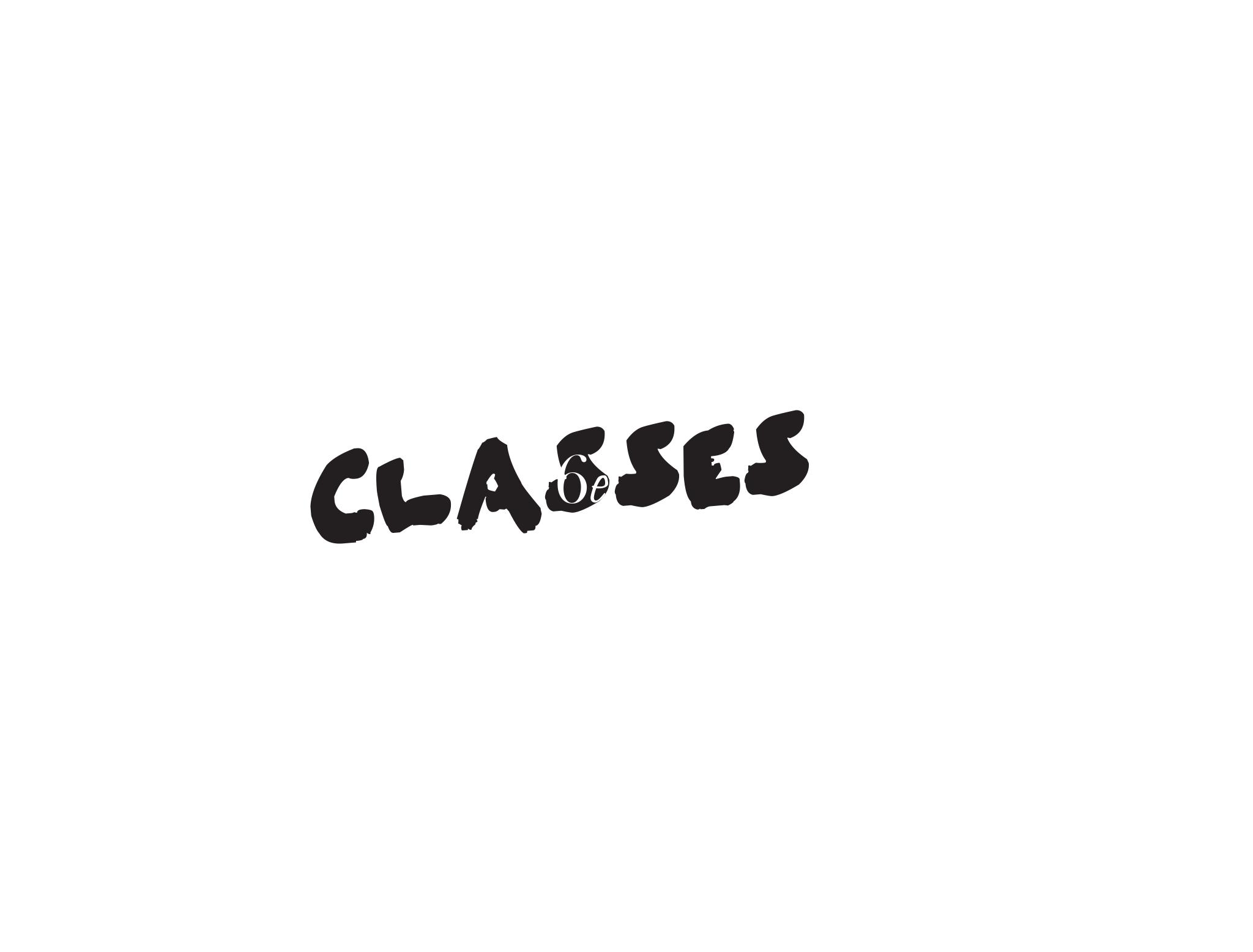 Classes for 6e