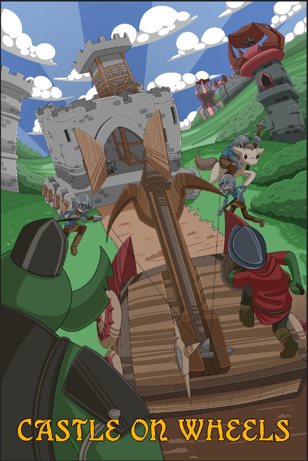 Castle On Wheels Poster