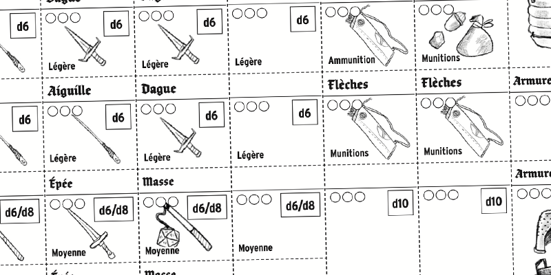 Item cards in French