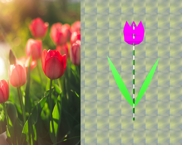 It is some different to a real tulip…