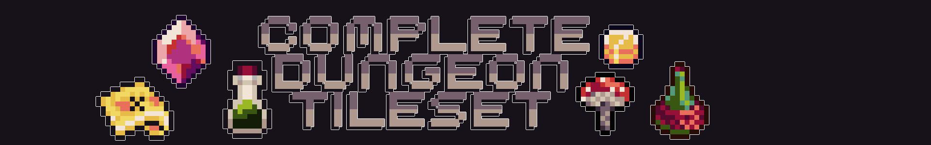 Complete Dungeon Tileset