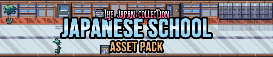 The Japan Collection: Japanese School Interior Game Assets