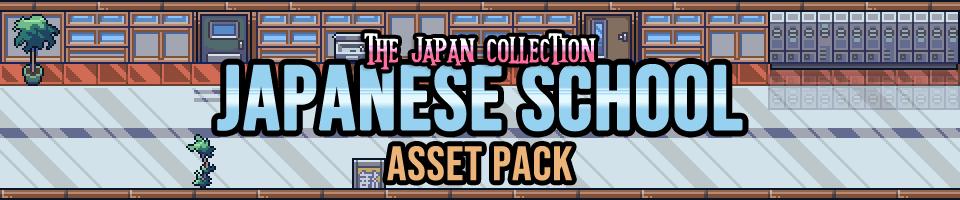 Japanese School Interior Game Assets