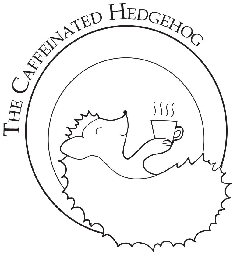 The Caffeinated Hedgehog Logo