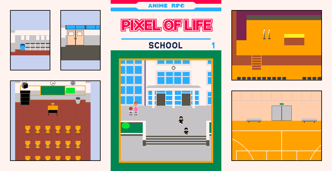 Anime RPG Tile Pack - Vol.1 School [PIXEL OF LIFE]